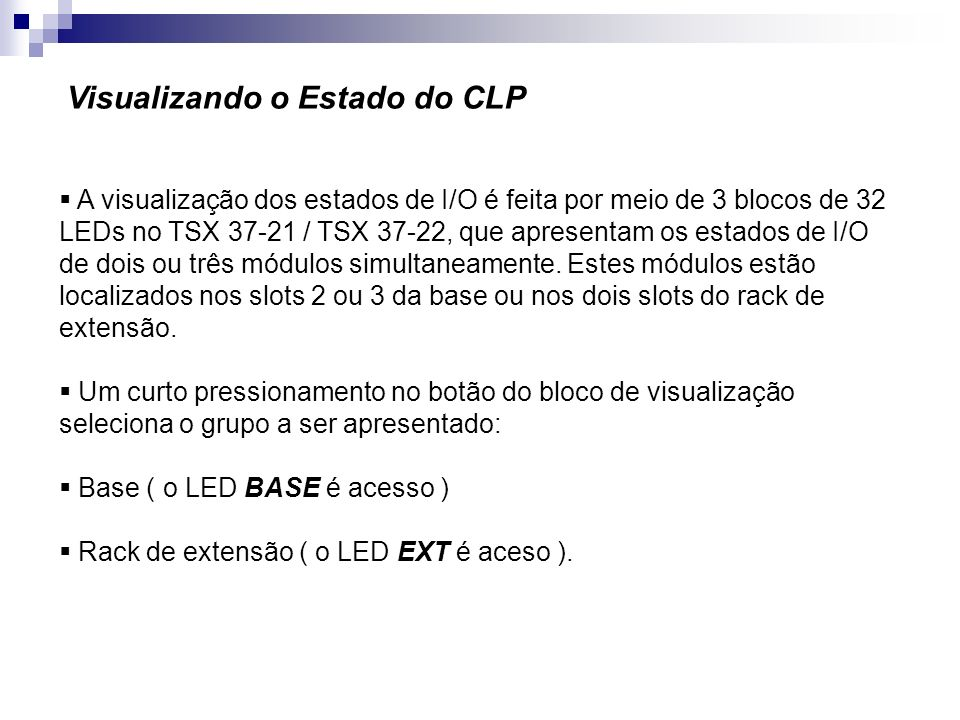 Visualizando o Estado do CLP