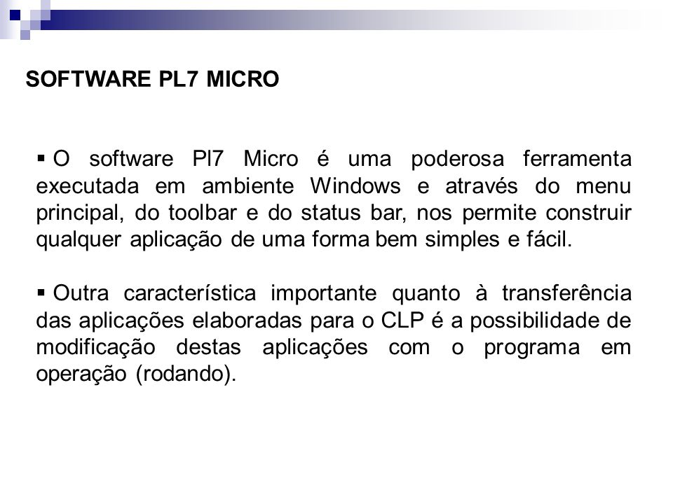 SOFTWARE PL7 MICRO