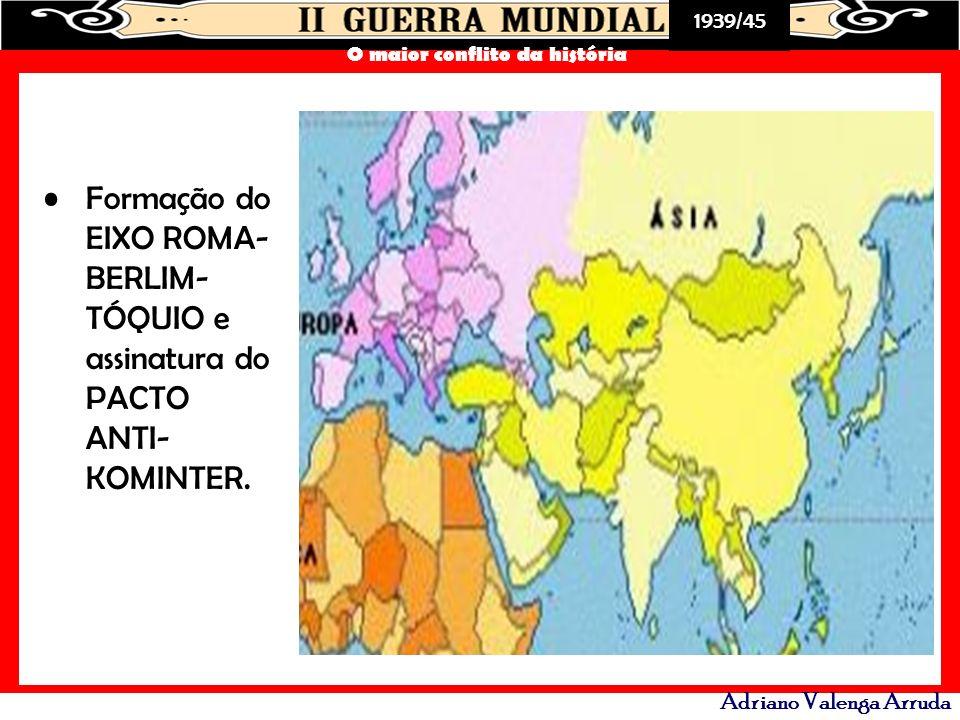 Formação do EIXO ROMA-BERLIM-TÓQUIO e assinatura do PACTO ANTI-KOMINTER.