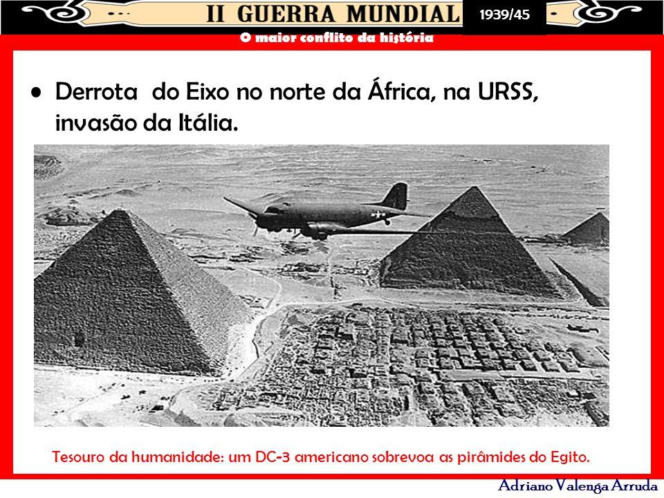 Derrota do Eixo no norte da África, na URSS, invasão da Itália.