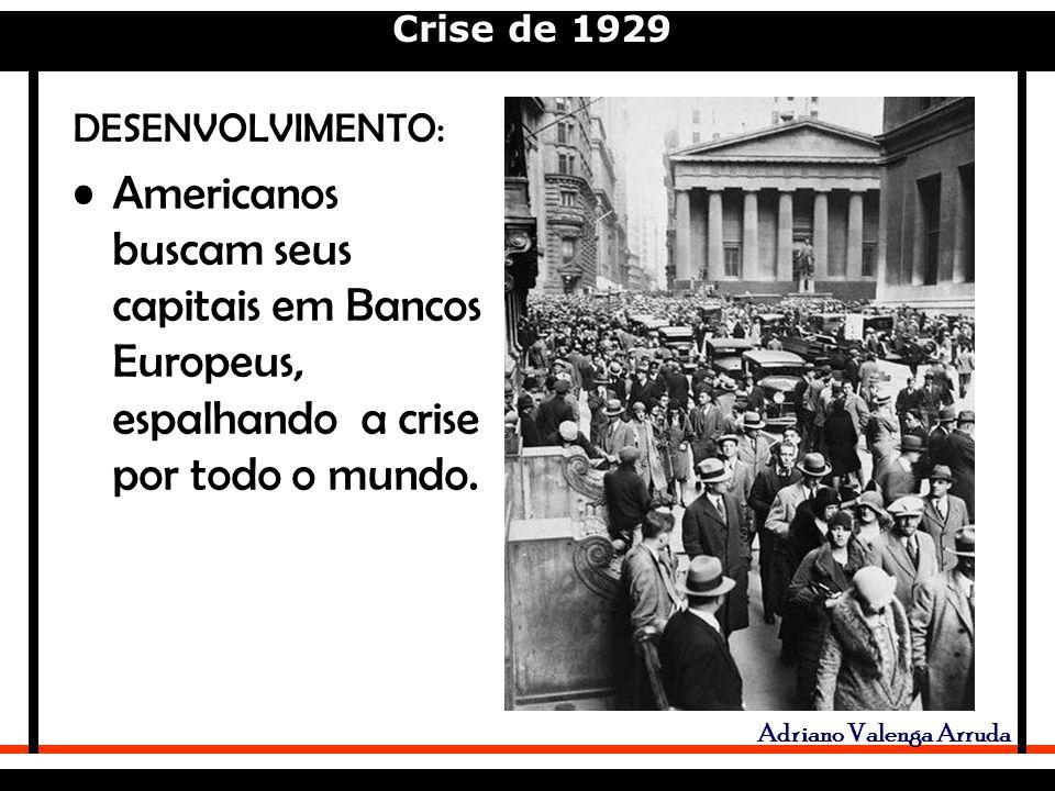 DESENVOLVIMENTO: Americanos buscam seus capitais em Bancos Europeus, espalhando a crise por todo o mundo.