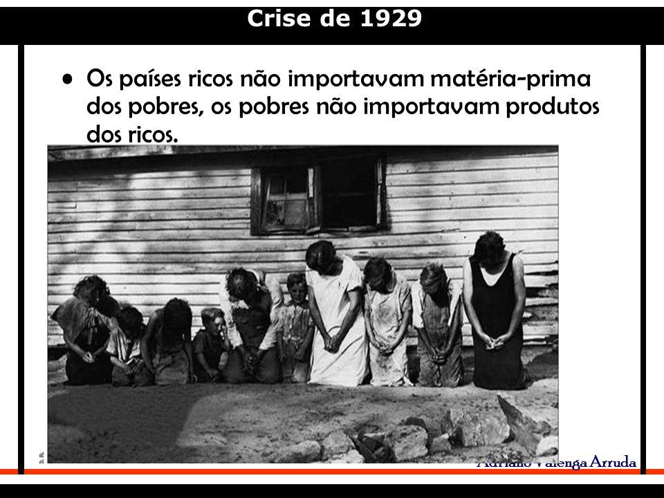 Os países ricos não importavam matéria-prima dos pobres, os pobres não importavam produtos dos ricos.
