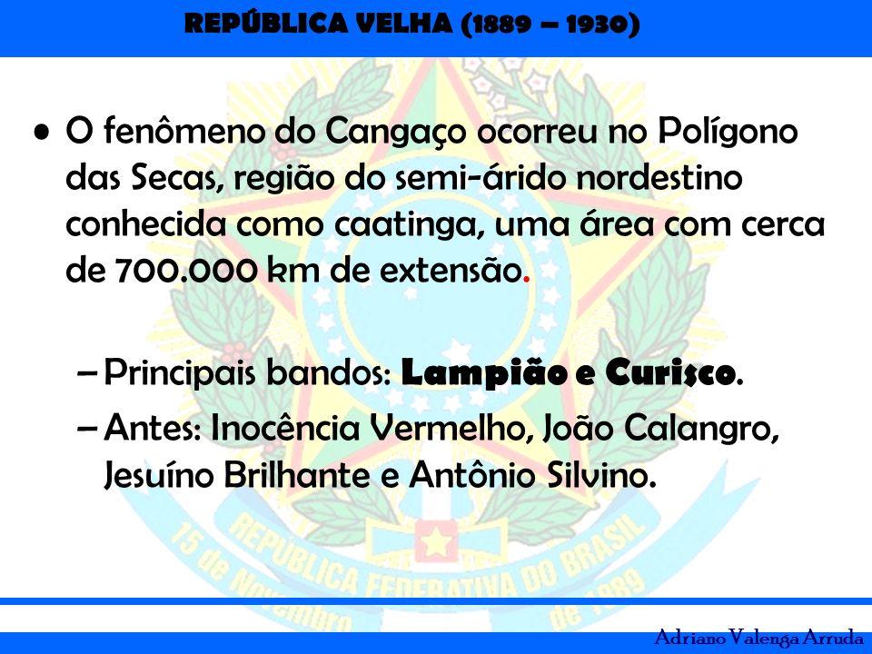 O fenômeno do Cangaço ocorreu no Polígono das Secas, região do semi-árido nordestino conhecida como caatinga, uma área com cerca de 700.000 km de extensão.