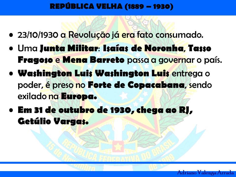 23/10/1930 a Revolução já era fato consumado.