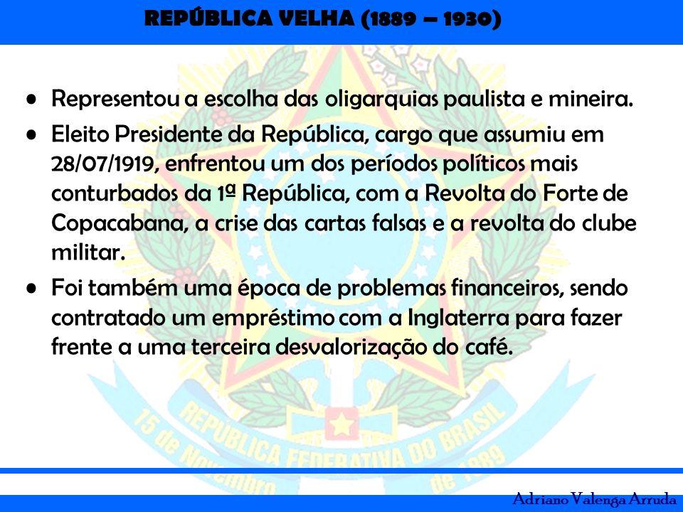 Representou a escolha das oligarquias paulista e mineira.