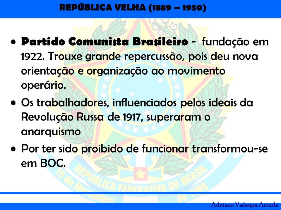 Partido Comunista Brasileiro - fundação em 1922
