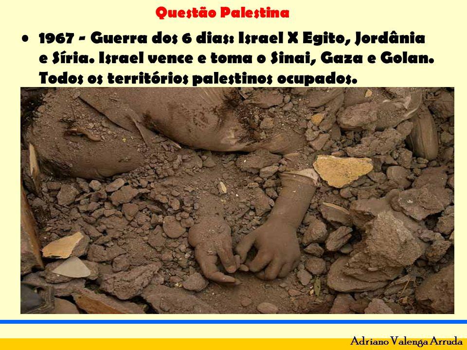 1967 - Guerra dos 6 dias: Israel X Egito, Jordânia e Síria