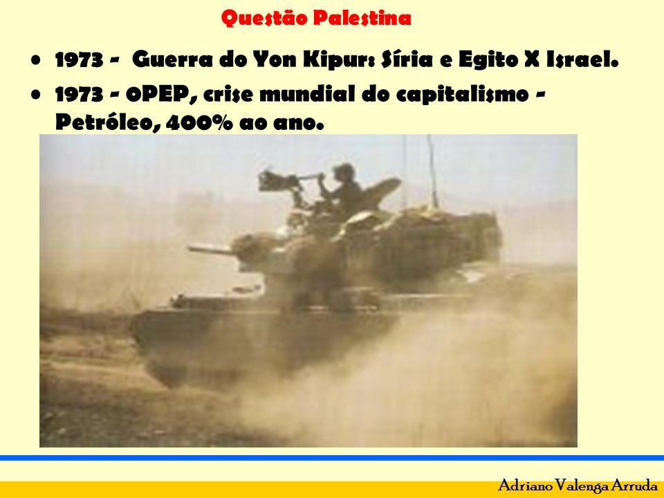 1973 - Guerra do Yon Kipur: Síria e Egito X Israel.