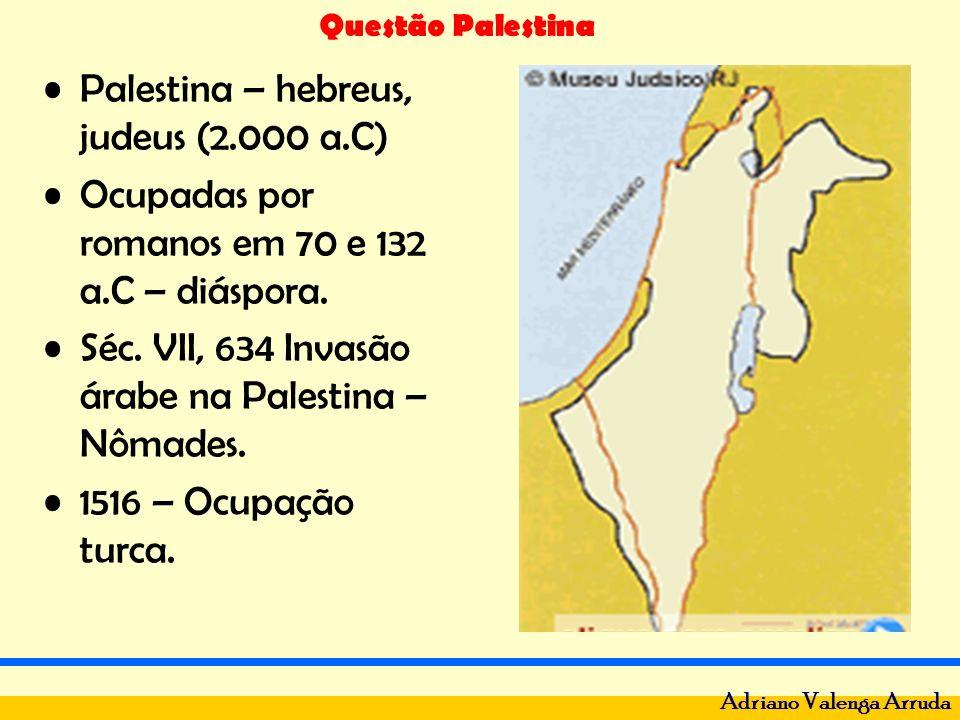 Palestina – hebreus, judeus (2.000 a.C)