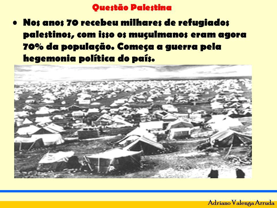 Nos anos 70 recebeu milhares de refugiados palestinos, com isso os muçulmanos eram agora 70% da população.