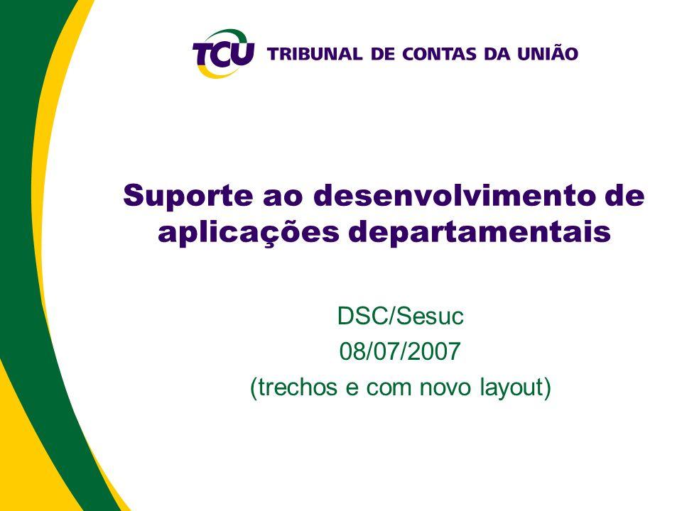 Suporte ao desenvolvimento de aplicações departamentais
