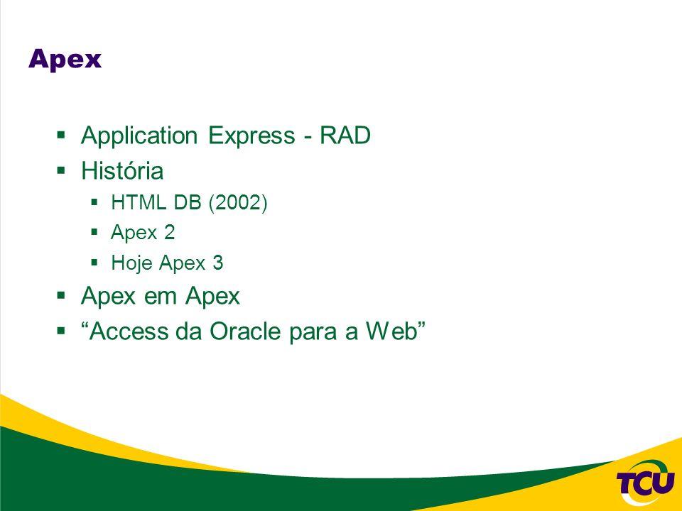 Apex Application Express - RAD História Apex em Apex