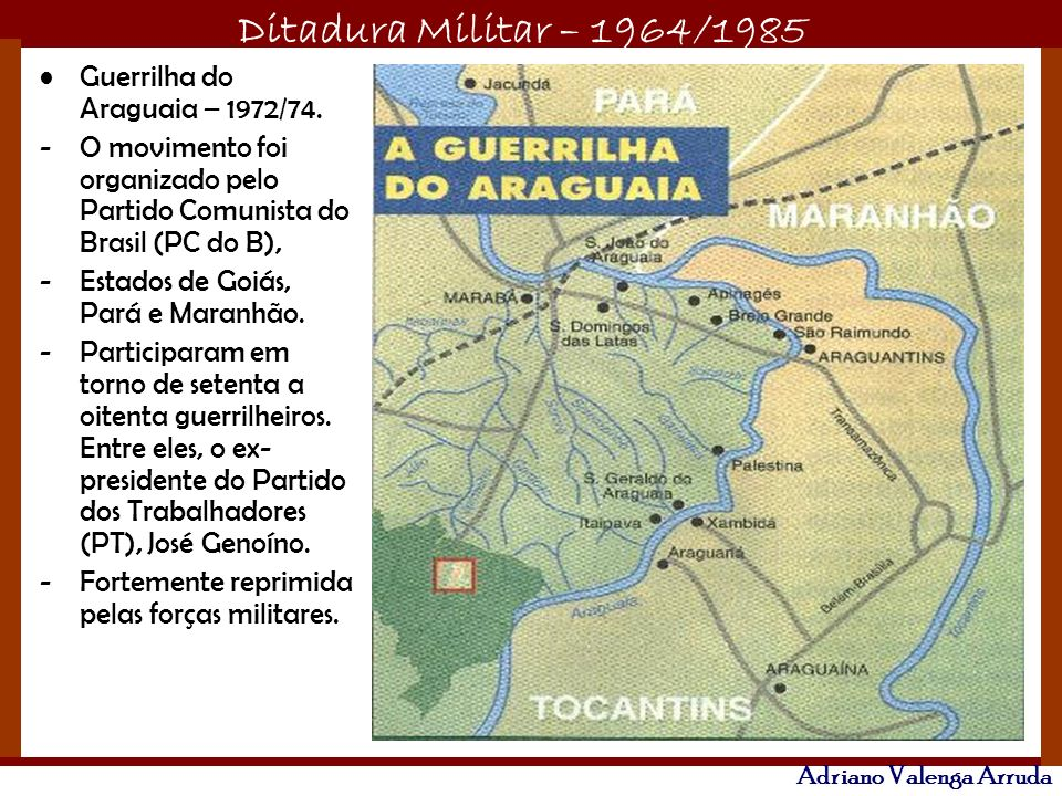 Guerrilha do Araguaia – 1972/74.