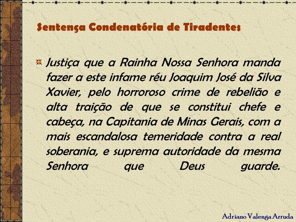 Sentença Condenatória de Tiradentes