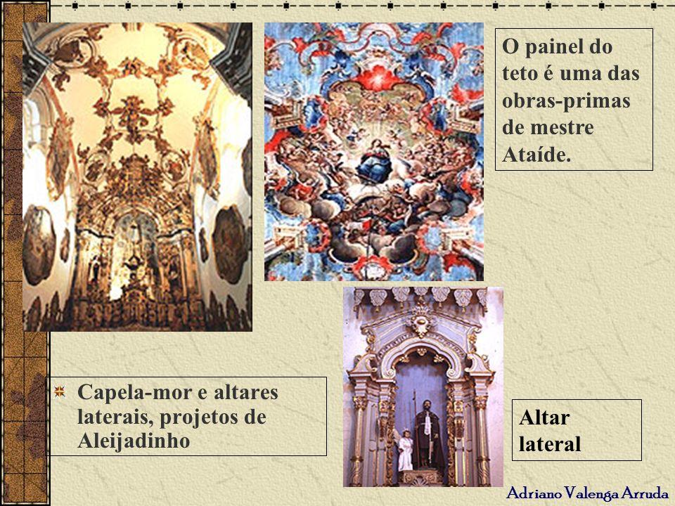 O painel do teto é uma das obras-primas de mestre Ataíde.