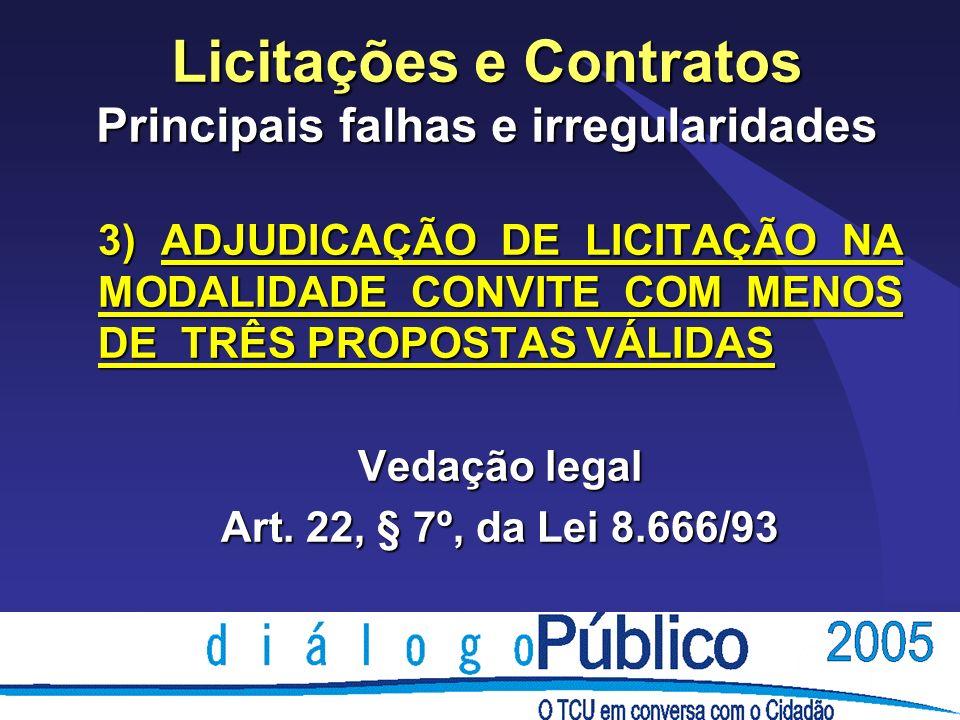 Licitações e Contratos Principais falhas e irregularidades