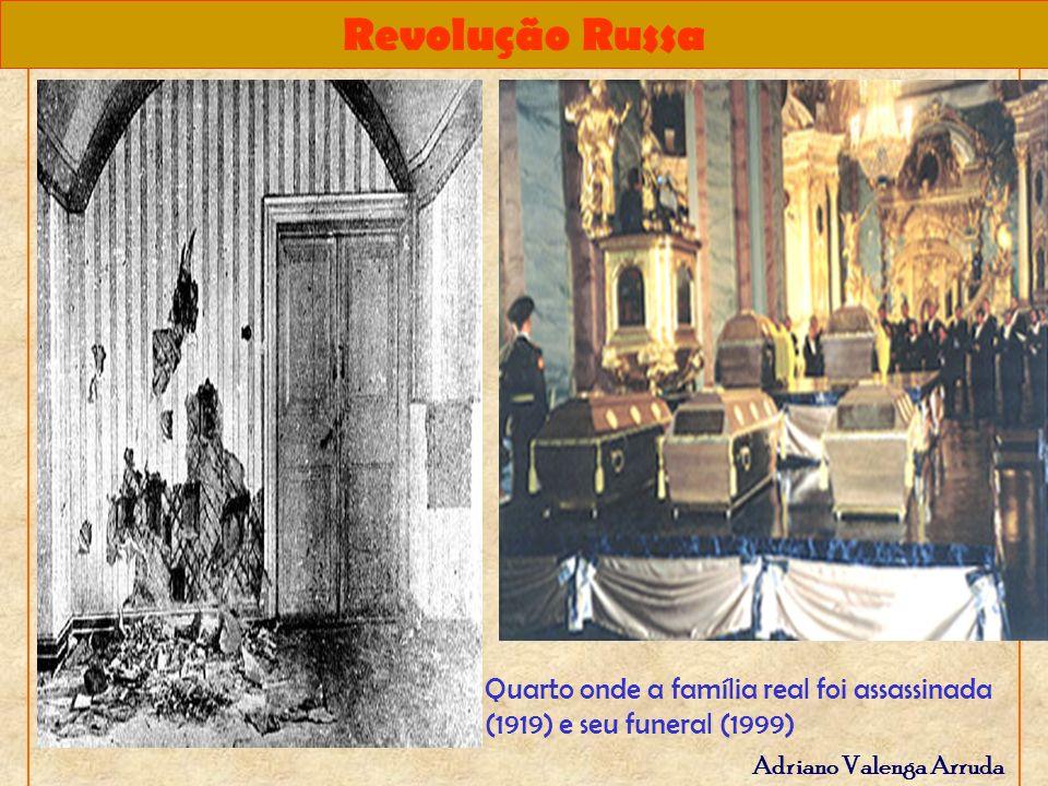 Quarto onde a família real foi assassinada (1919) e seu funeral (1999)