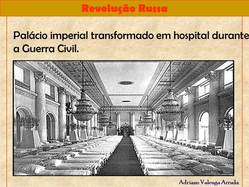 Palácio imperial transformado em hospital durante a Guerra Civil.