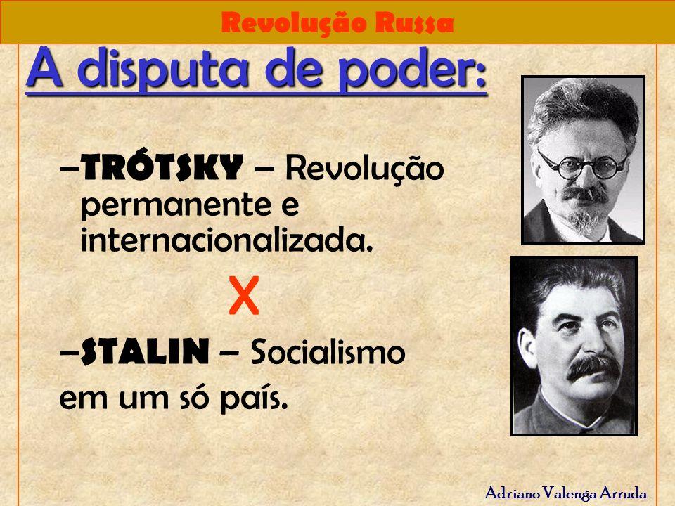A disputa de poder: TRÓTSKY – Revolução permanente e internacionalizada.