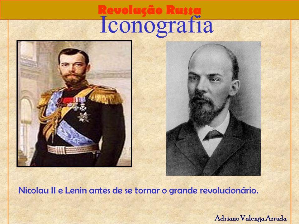 Iconografia Nicolau II e Lenin antes de se tornar o grande revolucionário.