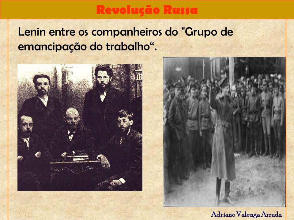 Lenin entre os companheiros do Grupo de emancipação do trabalho .