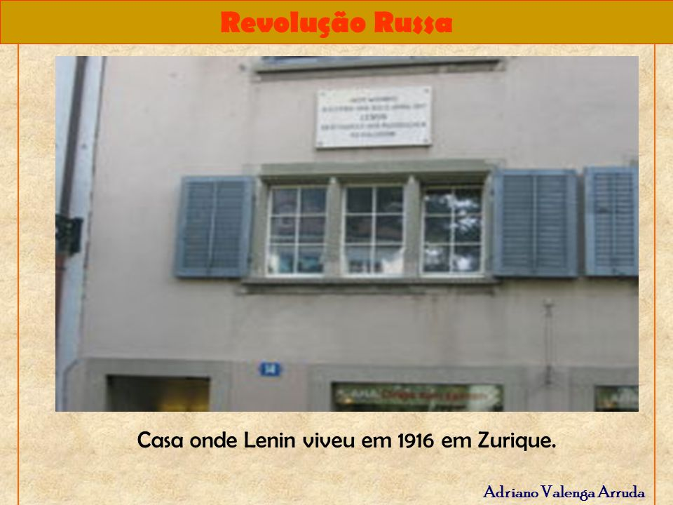 Casa onde Lenin viveu em 1916 em Zurique.