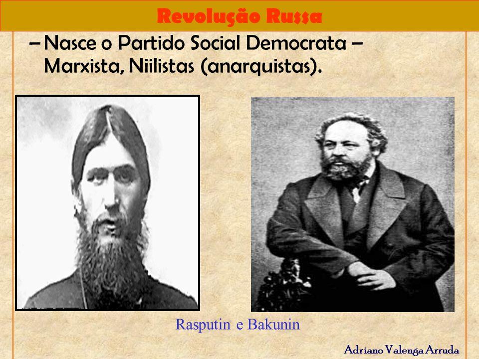 Nasce o Partido Social Democrata – Marxista, Niilistas (anarquistas).
