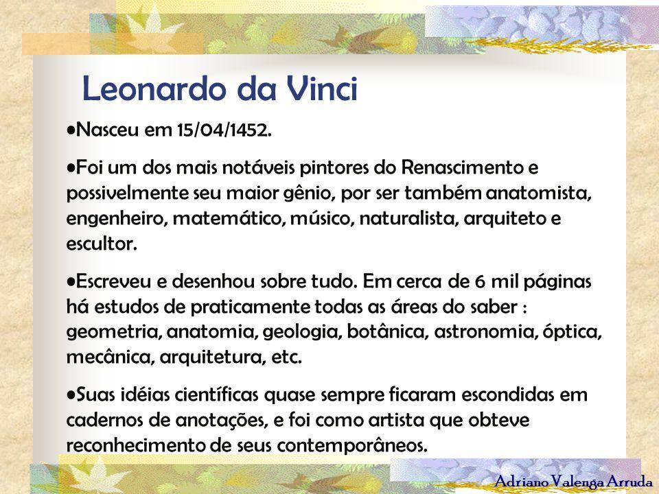 Leonardo da Vinci Nasceu em 15/04/1452.
