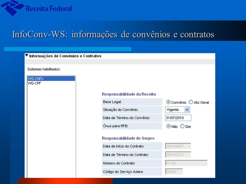 InfoConv-WS: informações de convênios e contratos