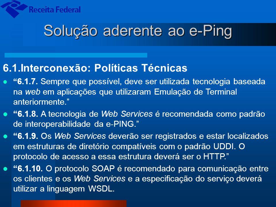 Solução aderente ao e-Ping