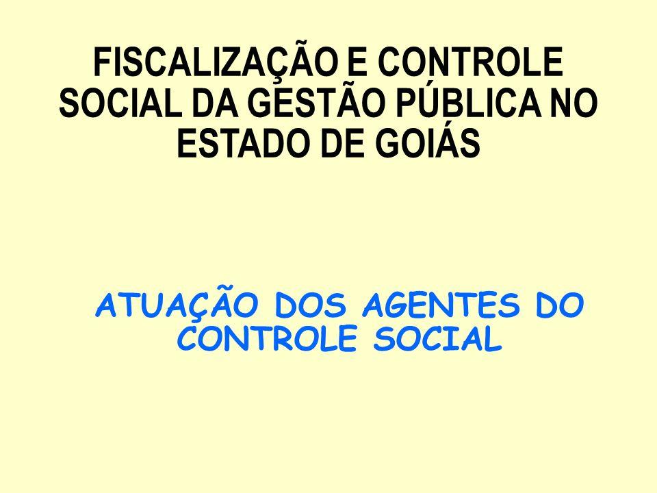 ATUAÇÃO DOS AGENTES DO CONTROLE SOCIAL