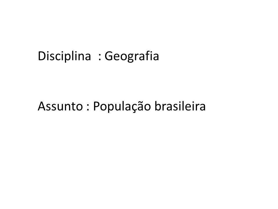 Disciplina : Geografia