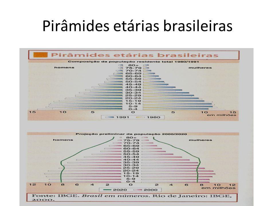 Pirâmides etárias brasileiras