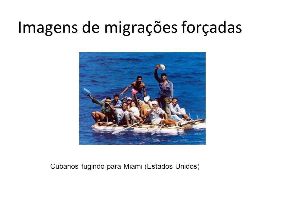 Imagens de migrações forçadas