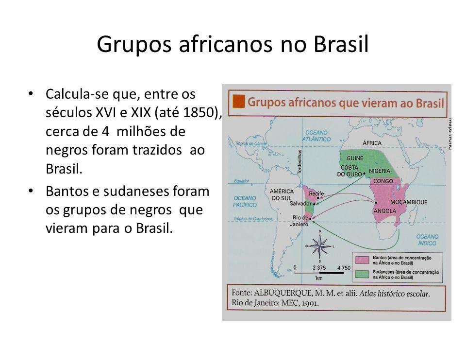 Grupos africanos no Brasil