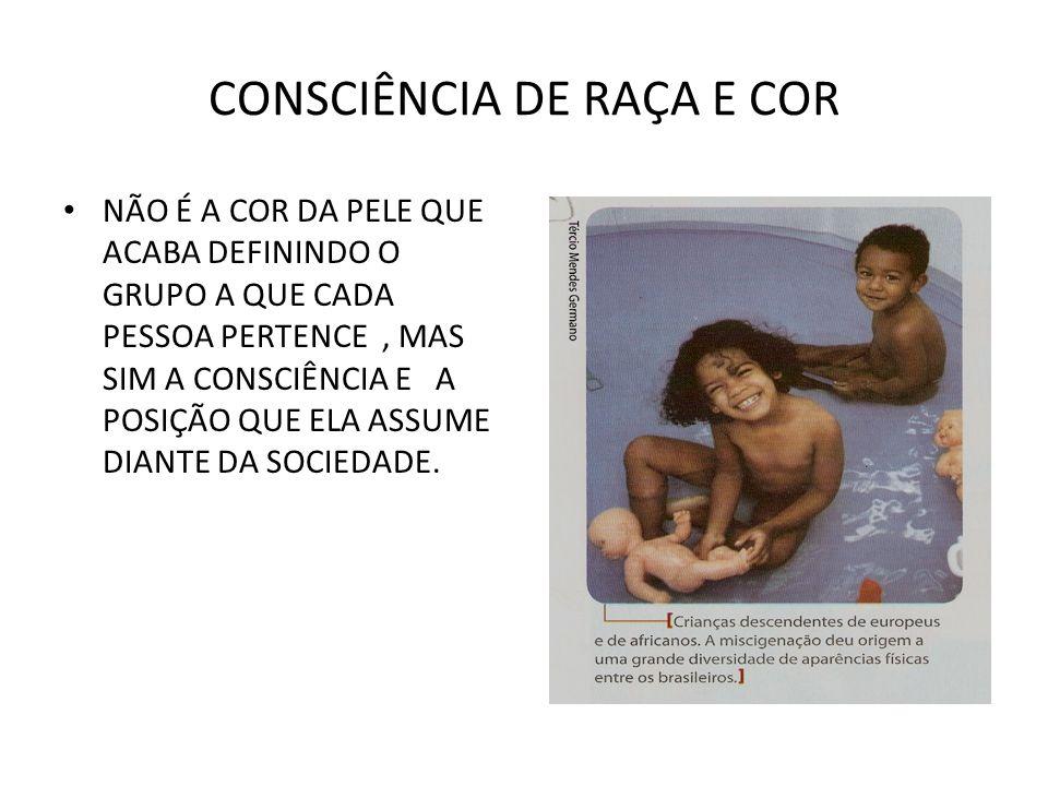 CONSCIÊNCIA DE RAÇA E COR