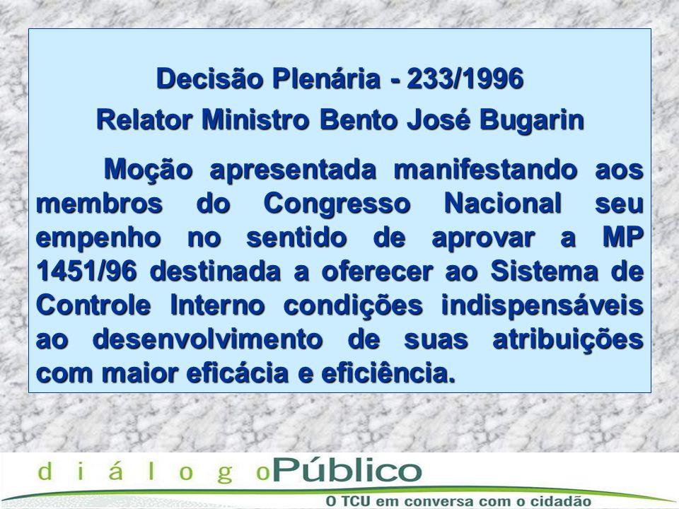 Relator Ministro Bento José Bugarin