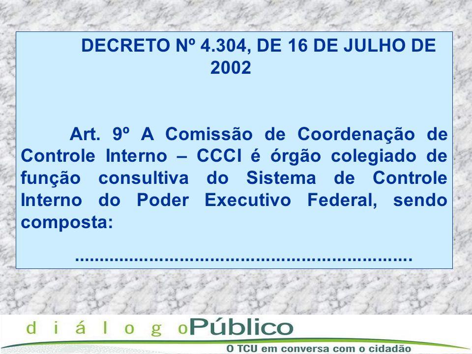 DECRETO Nº 4.304, DE 16 DE JULHO DE 2002