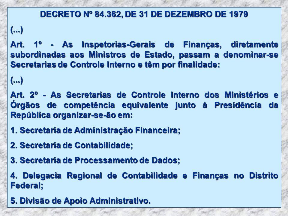 DECRETO Nº 84.362, DE 31 DE DEZEMBRO DE 1979