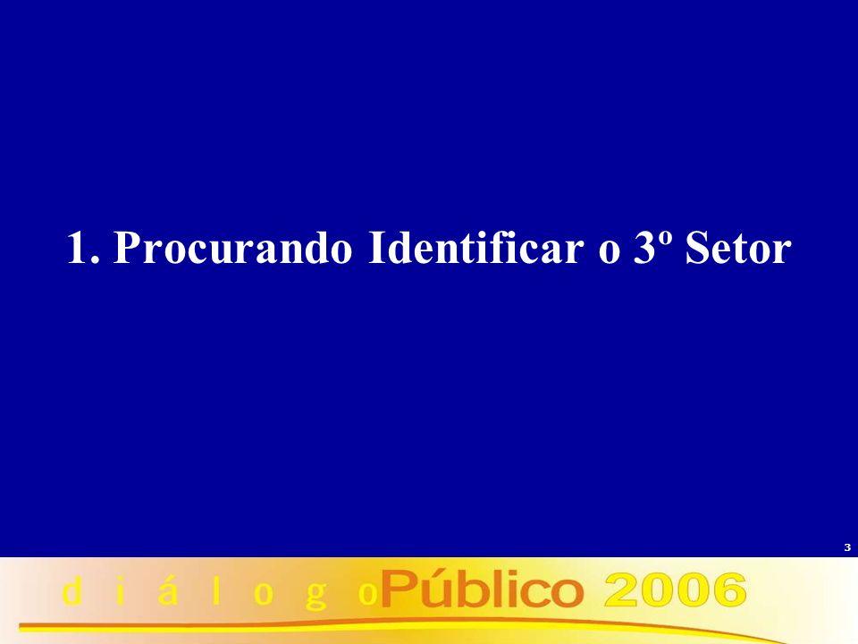 1. Procurando Identificar o 3º Setor