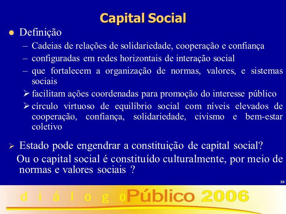 Capital Social Definição