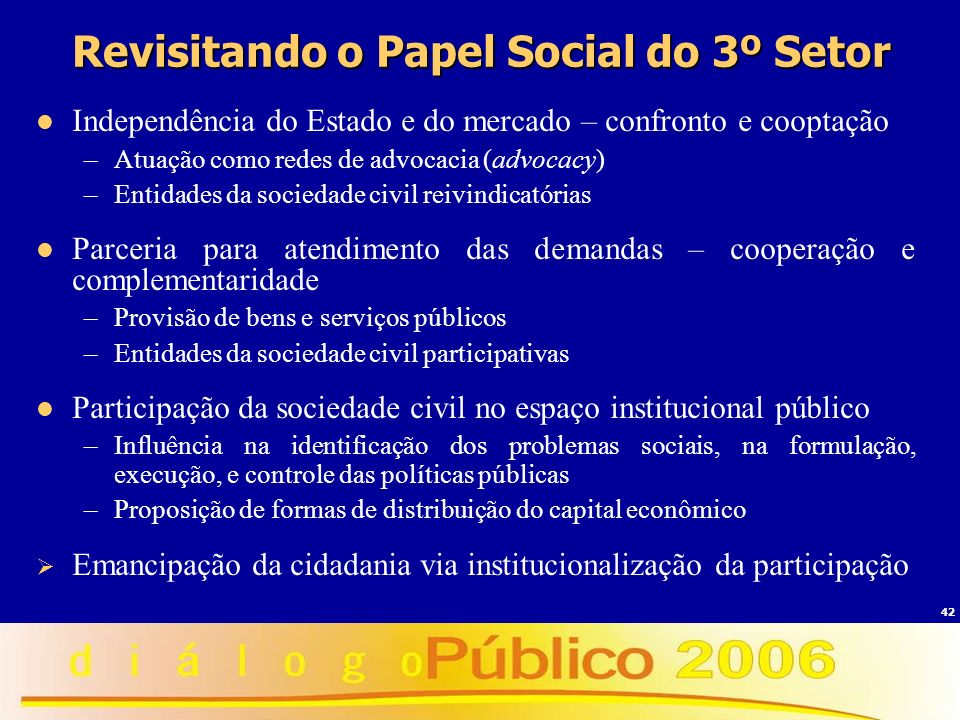 Revisitando o Papel Social do 3º Setor
