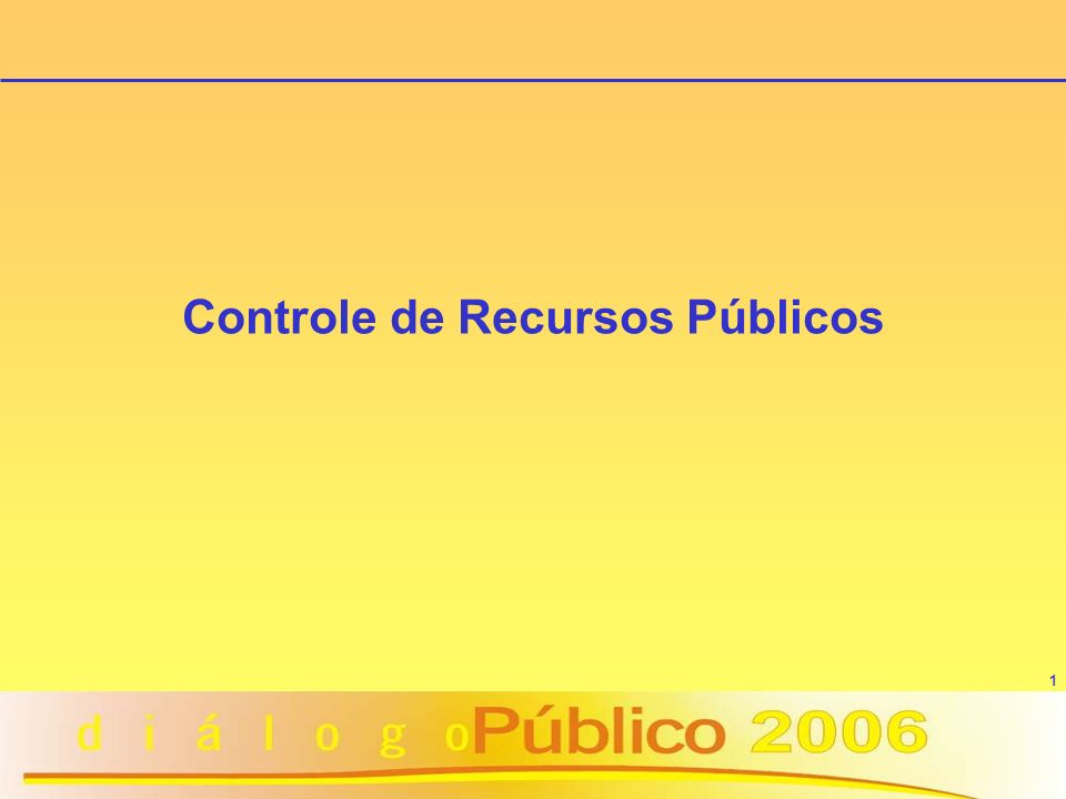 Controle de Recursos Públicos