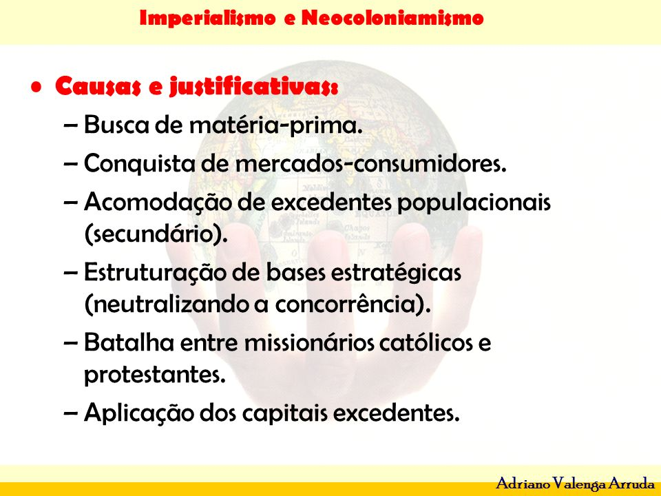 Causas e justificativas: