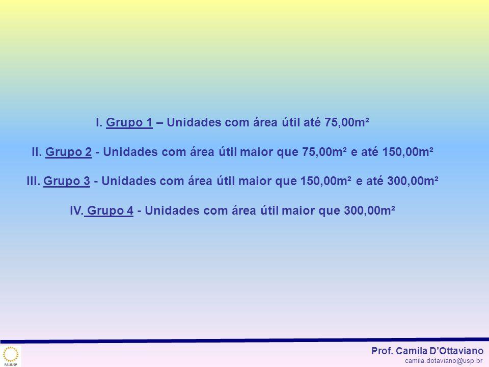 I. Grupo 1 – Unidades com área útil até 75,00m²
