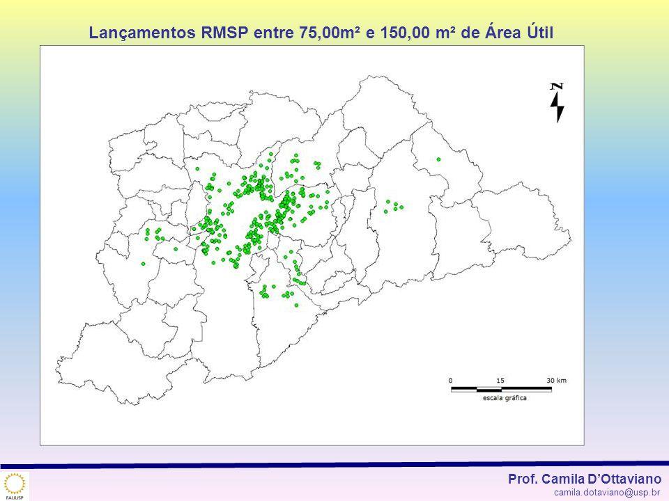 Lançamentos RMSP entre 75,00m² e 150,00 m² de Área Útil