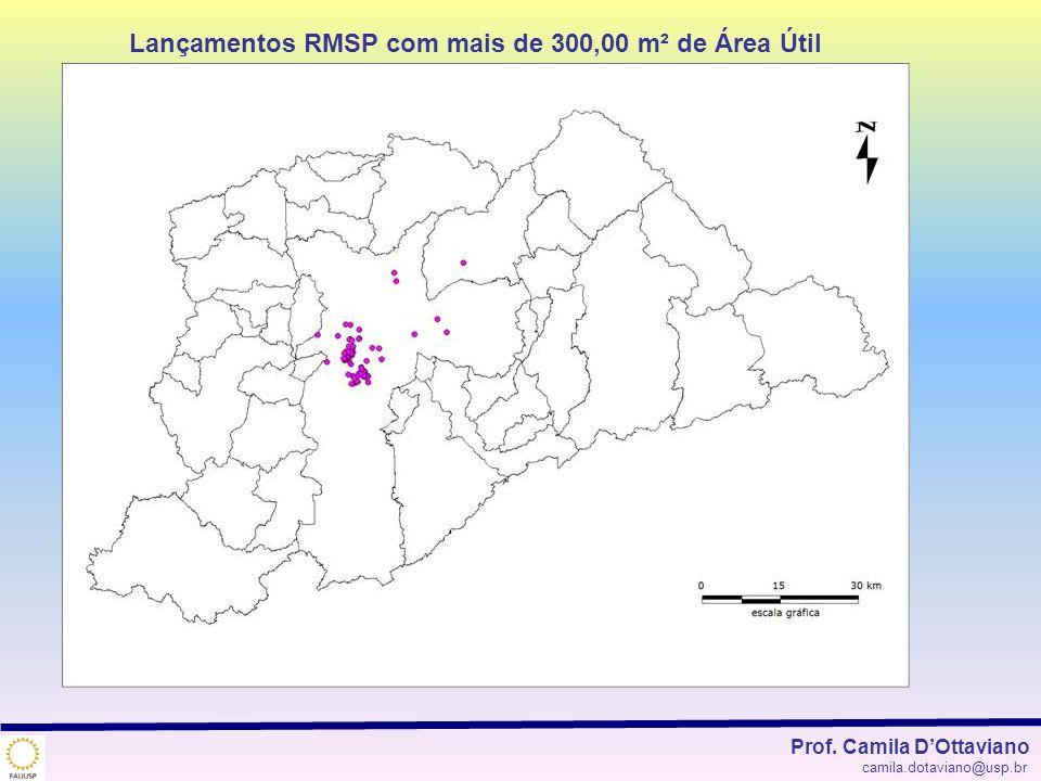 Lançamentos RMSP com mais de 300,00 m² de Área Útil