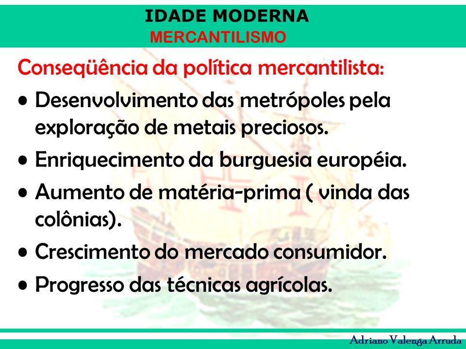 Conseqüência da política mercantilista:
