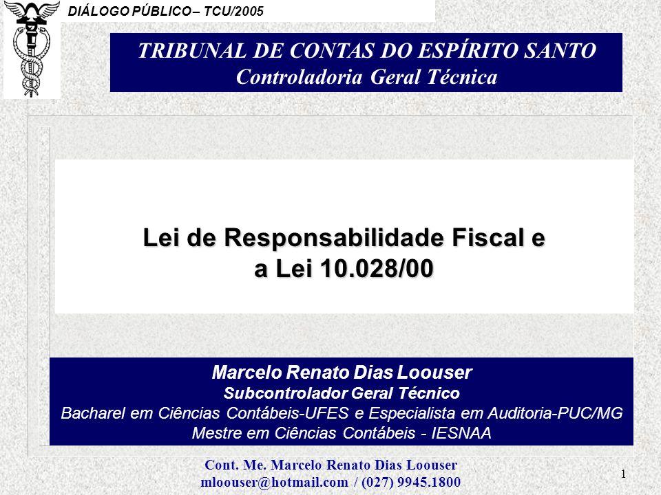Lei de Responsabilidade Fiscal e a Lei 10.028/00