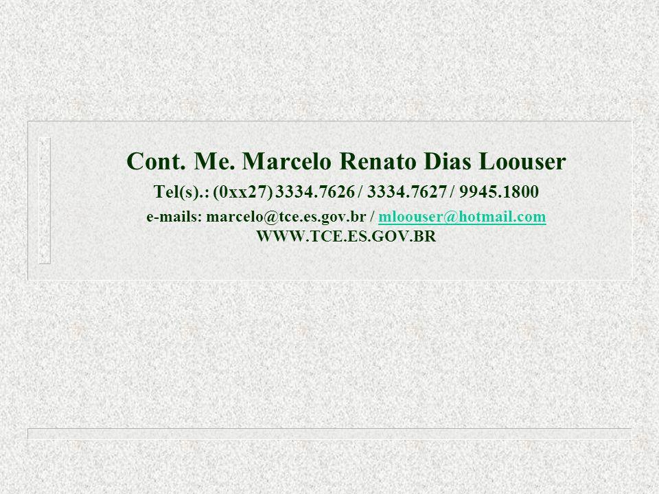 Cont. Me. Marcelo Renato Dias Loouser